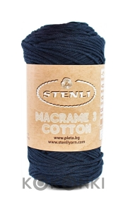 Sznurek Macrame Cotton 3 mm - 24 granat