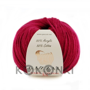 Włóczka Gazzal Baby Cotton 3442 - 25g - bordo