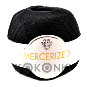 Kordonek Mercerized May Mini Crochet - BLACK czarny