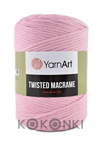 Sznurek YarnArt Twisted Macrame 4mm 762 / róż