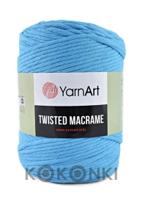 Sznurek YarnArt Twisted Macrame 4mm 763 / cyjan