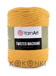 Sznurek YarnArt Twisted Macrame 4mm 764 / musztarda