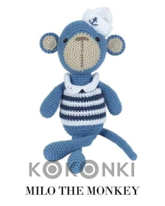 Zestaw do amigurumi Tuva Milo the Monkey