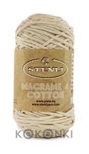 Sznurek Macrame Cotton 4 mm - 07 ecru