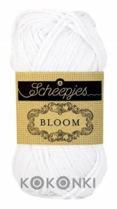 Włóczka Scheepjes Bloom 50 g - 424 Snow Drop / biel