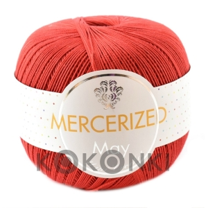 Kordonek Mercerized May Mini Crochet - 151 czerwony