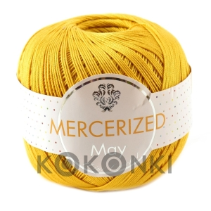Kordonek Mercerized May Mini Crochet - 138 musztarda