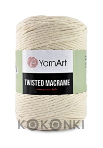 Sznurek YarnArt Twisted Macrame  4mm 752 / krem