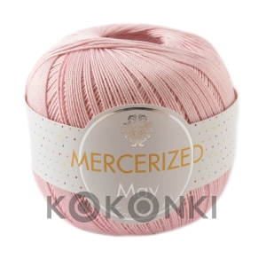 Kordonek Mercerized May Mini Crochet - 109 jasny róż