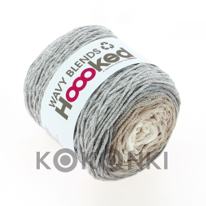 Sznurek Hooked Wavy Blends WB08 / Sandy Grey