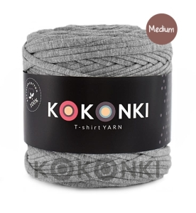 T-shirt Yarn by KOKONKI - szary melanż / rozmiar Medium