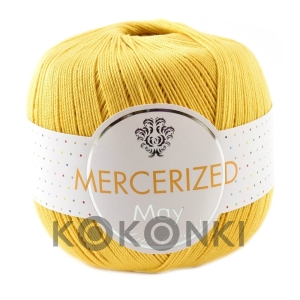 Kordonek Mercerized May Mini Crochet - 130 żółty