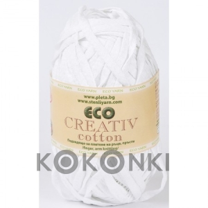 Włóczka Eco Creativ Cotton - 01 biel