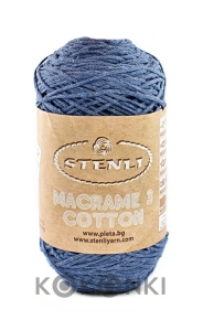 Sznurek Macrame Cotton 3 mm - 11 denim