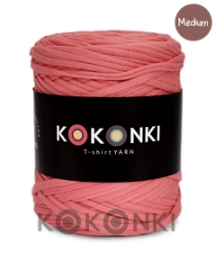 T-shirt Yarn by KOKONKI - morela / rozmiar Medium