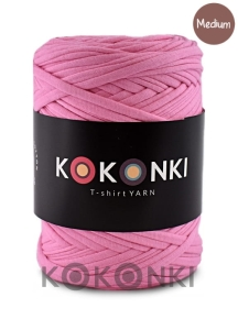T-shirt Yarn by KOKONKI - róż / rozmiar Medium