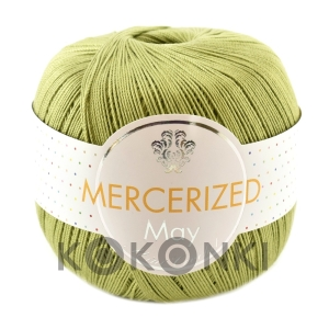 Kordonek Mercerized May Mini Crochet - 426 oliwka