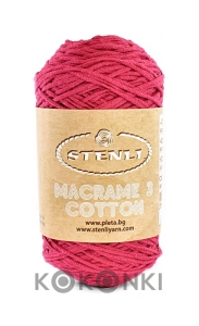 Sznurek Macrame Cotton 3 mm - 06 piwonia